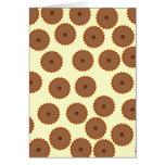 Schokoladen-Kuchen-Muster Grußkarte