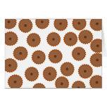 Schokoladen-Kuchen-Muster Karte