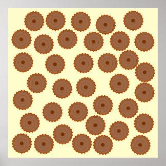 Schokoladen-Kuchen-Muster Plakate