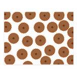 Schokoladen-Kuchen-Muster Postkarte