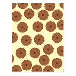 Schokoladen-Kuchen-Muster Postkarten