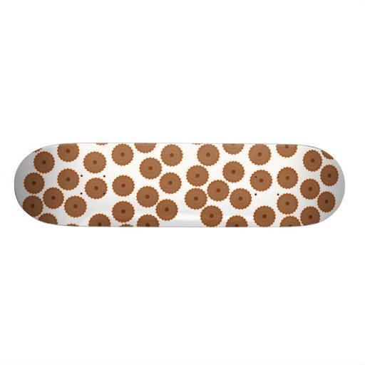 Schokoladen-Kuchen-Muster Personalisiertes Skateboarddeck