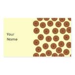 Schokoladen-Kuchen-Muster Visitenkarten