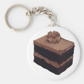 Schokoladen-Kuchen Schlüsselanhänger