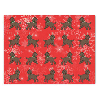 Schokoladen-Labrador-Geweih-Weihnachtsseidenpapier Seidenpapier