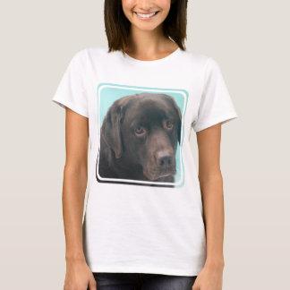 Schokoladen-Labrador-Hundedamen-T - Shirt