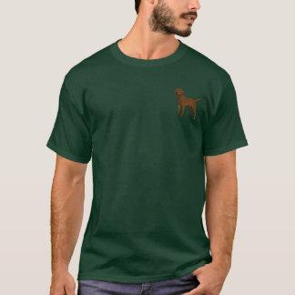 Schokoladen-Labrador, links Brust T-Shirt