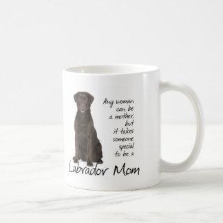 Schokoladen-Labrador-Mamma Kaffeetasse