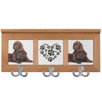 Schokoladen-Labrador-Mantel-Gestell