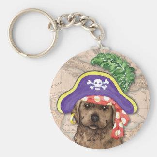 Schokoladen-Labrador-Pirat Schlüsselanhänger