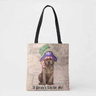 Schokoladen-Labrador-Pirat Tasche