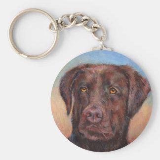 Schokoladen-Labrador Schlüsselanhänger