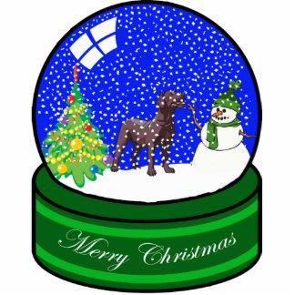 Schokoladen-Labrador-Schnekugel Fotoskulptur Ornament
