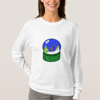 Schokoladen-Labrador-Schnekugel T-Shirt