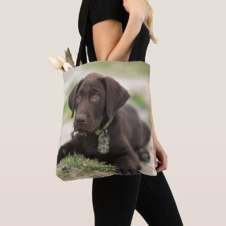 Schokoladen-Labrador-Welpe Tasche
