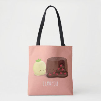 Schokoladen-Lava-Kuchen-und Tasche