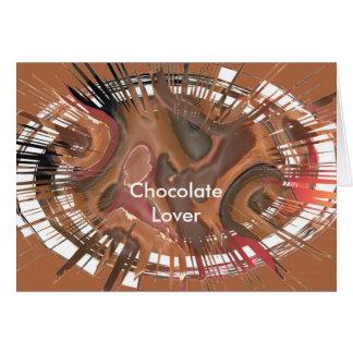 Schokoladen-Liebhaber Grußkarte