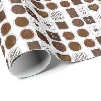 Schokoladen-Liebhaber-Valentinstag-Süßigkeit Geschenkpapier