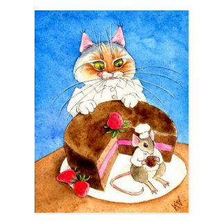 Schokoladen-Mäusekuchen Postkarte