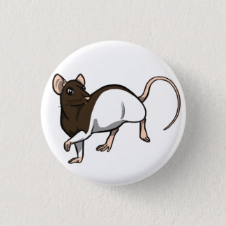 Schokoladen-mit Kapuze Ratten-Abzeichen Runder Button 3,2 Cm