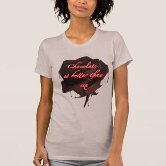 Schokoladen-oder Sex-T-Shirt für Frauen T-Shirt