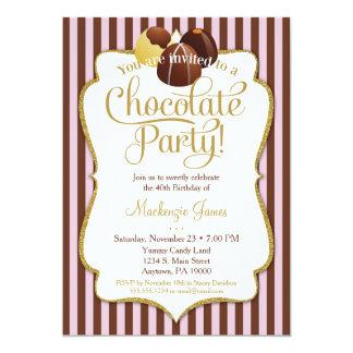 Schokoladen-Party Einladungs-Geburtstags-Nachtisch Karte