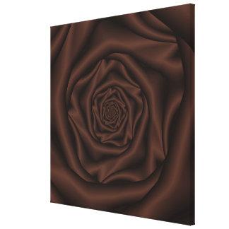 Schokoladen-Rosen-Spirale-Leinwand Leinwanddruck