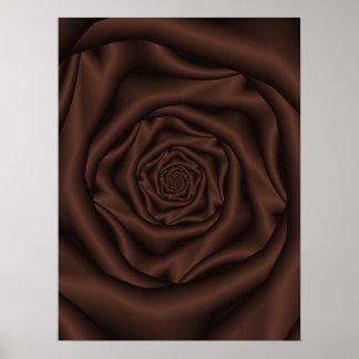 Schokoladen-Rosen-Spirale-Plakat Poster