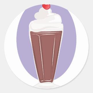 Schokoladen-Soda Runder Aufkleber