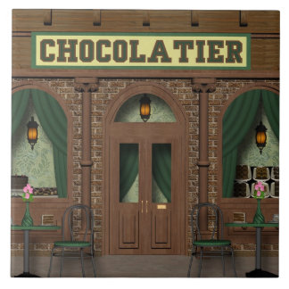 Schokoladen-Süßigkeits-Geschäfts-Cartoonfliese Keramikfliese