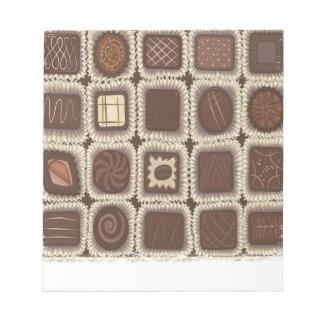 Schokoladen-tadelloser Tag - Anerkennungs-Tag Notizblock