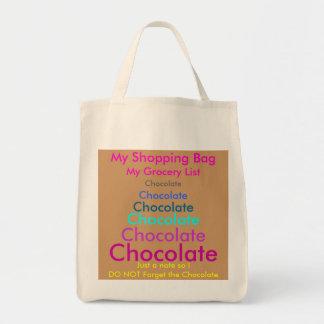 Schokoladen-Tasche Einkaufstasche
