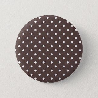 Schokoladen-Tupfen-Knopf Runder Button 5,1 Cm