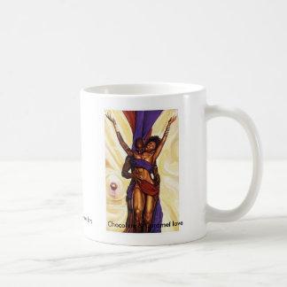 Schokoladen-und Karamell-Liebe Kaffeetasse