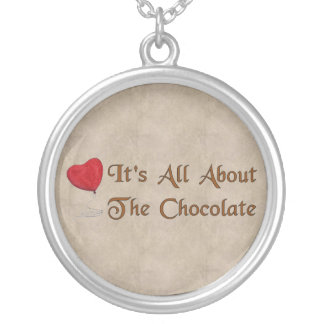 Schokoladen-Valentinsgruß Versilberte Kette