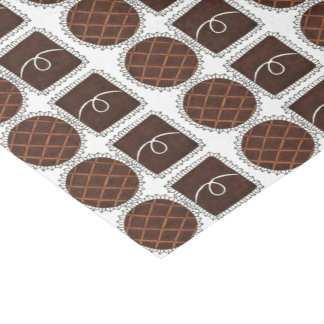 Schokoladen-Valentinstag-Süßigkeit Chocoholic Seidenpapier