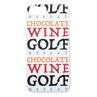 Schokoladen-Wein-Golf iPhone Fall iPhone 8/7 Hülle