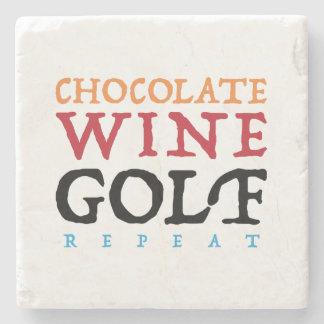 Schokoladen-Wein-Golf-Marmor-Stein-Untersetzer Steinuntersetzer
