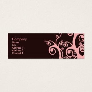 Schokoladen-Wirbel Mini Visitenkarte