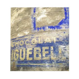 Schokoladen-Zeichen Notizblock