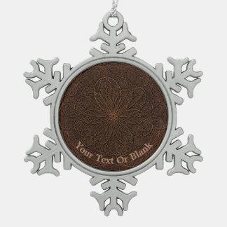 Schokoladen-Zuckerglasur Schneeflocken Zinn-Ornament