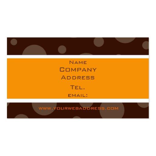 Schokoladenblasenorange, Name, Company, Adresse… Visitenkarten Vorlagen