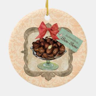 Schokoladenbonbonsüßigkeit Weihnachtsverzierung Rundes Keramik Ornament