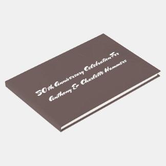 Schokoladenbraune Jahrestags-Gewohnheits-Schablone Gästebuch