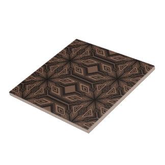 Schokoladenbraune Mosaik-Keramik-Fliese Fliese
