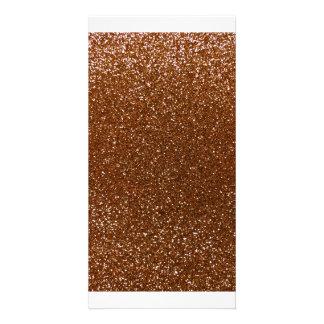 Schokoladenbrauner Glitter Fotogrußkarten