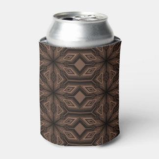 Schokoladenbrauner Mosaik-Schaum kann cooler Dosenkühler