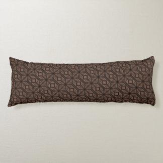 Schokoladenbraunes Mosaik-Baumwollkörper-Kissen Seitenschläferkissen