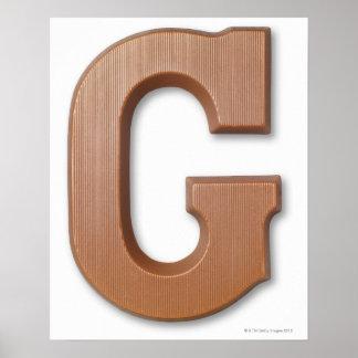 Schokoladenbuchstabe g poster