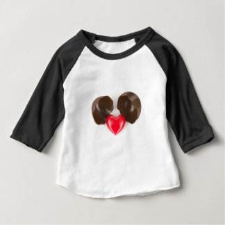 Schokoladenei und -herz baby t-shirt